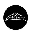 crown black icon sign on isolated vector image