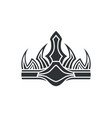 crown in gothic style monochrome vector image vector image