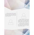 Crystal structure paper modern brochure design vector image vector image
