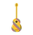 decorative guitar vector image vector image