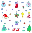 Doodle of funny christmas color vector image