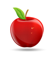 drawing a red apple on a white background vector image vector image