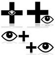 Eye doctor vector image vector image
