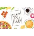 Fast food flat banner For decoration websites vector image
