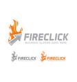 fire click logo design vector image vector image