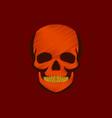 flat shading style icon skull vector image