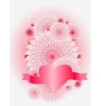 flower heart love concept vector image vector image