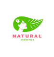 girl logo natural cosmetics vector image vector image