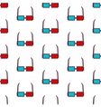 glasses seamless pattern background vector image