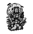 halloween haunted house vector image vector image