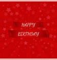happy birthday banner paper scrolls vector image vector image