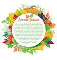 Harvest round board vector image vector image