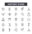 history line icons for web and mobile design vector image vector image