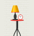 interior home decor table lamp and clock vector image vector image