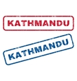 Kathmandu Rubber Stamps vector image vector image