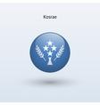 Kosrae round flag vector image vector image
