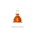 Licking money financial crisis budget management vector image vector image