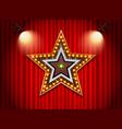 light neon sign star shape vector image vector image