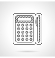 Line calculator and pen icon vector image