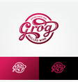 logo grog mulled wine cafe calligraphic alcohol vector image