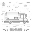 modern minimalist food car design thin vector image