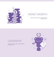 money growth and leadership business success vector image