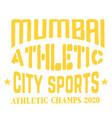 mumbai sport t-shirt design vector image vector image