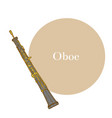 oboe in hand drawn style vector image vector image