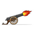old cannon firing vector image