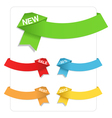 origami ribbons vector image