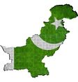 Pakistan map with flag inside vector image vector image