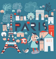 paris france print design vector image vector image