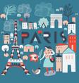 paris france print design vector image