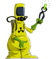 radiation suit vector image vector image