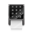 realistic 3d detailed electronic lock with numbers vector image vector image
