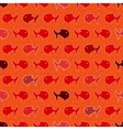 Seamless abstract pattern wits red and orage fish vector image