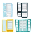 Set of Home and Commercial Refrigerators vector image