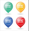 stickers for best seller colorful moderm design vector image