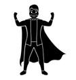 superdad cartoon character silhouette vector image vector image