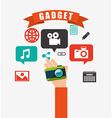 technology gadget design vector image vector image