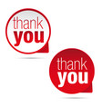 thank you sign label vector image