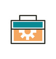tools support web development icon line and fill vector image