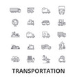 transportation truck logistic transport car vector image vector image