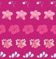 tropical flowers stripes seamless pattern print vector image vector image