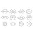 vintage lineart badges line stamp frame vector image
