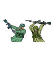 war and hatred soldiers kill each other isolate vector image vector image