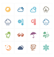 Weather Icons - Colored Series vector image vector image
