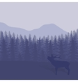 with trees and deer vector image vector image