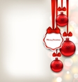 Xmas Background with Celebration Card and Glass vector image vector image