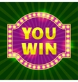 You Win Game Element Design vector image